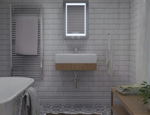 An LED Bathroom Mirror