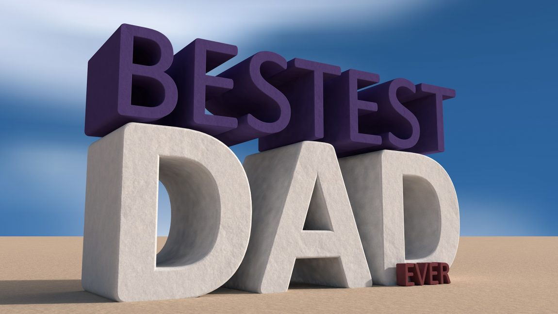 big bold capital letters spelling out the words bestest dad ever