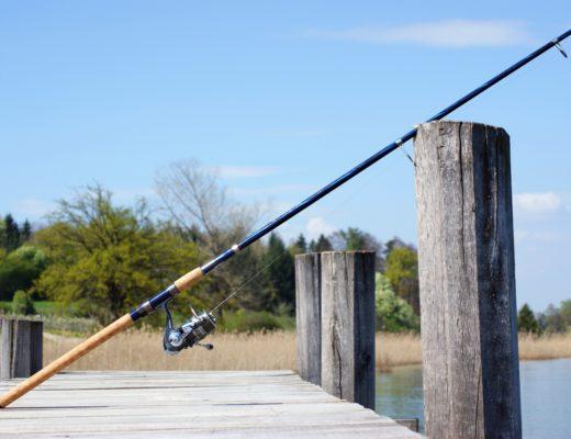 fishing rod on a pier