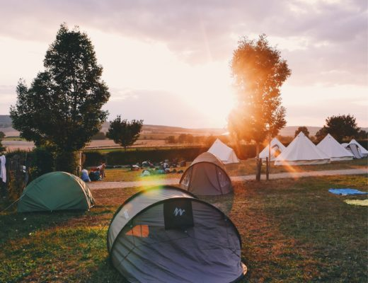 tents and yurts in a field - perfect family holiday accomdation
